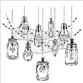 Hobbysjabloon - Template 30,5x30,5cm 30x30cm party lights
