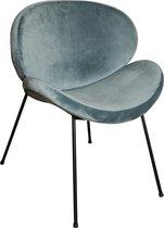 PTMD  janne velvet stoel zonder armleuning petrol