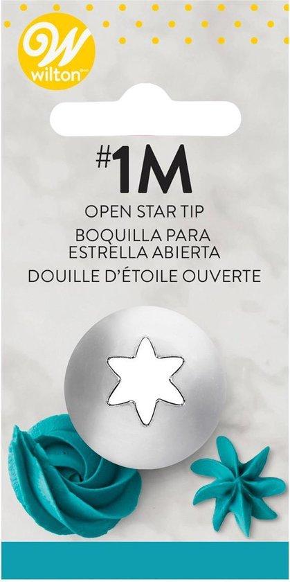Wilton Spuitmondje #1M Open Star - Zilvergrijs