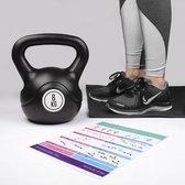 Kettlebell – 8 KG – Black - Binnen - Buiten - Sporten - Fitness