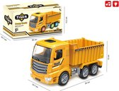 Vrachtwagen speelgoed met laadbak-kiepbak - Dump Truck - met licht en geluid 25CM (inclusief batterijen)