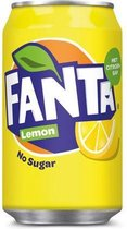 Frisdrank Fanta Lemon zero 0.33L /pk 24