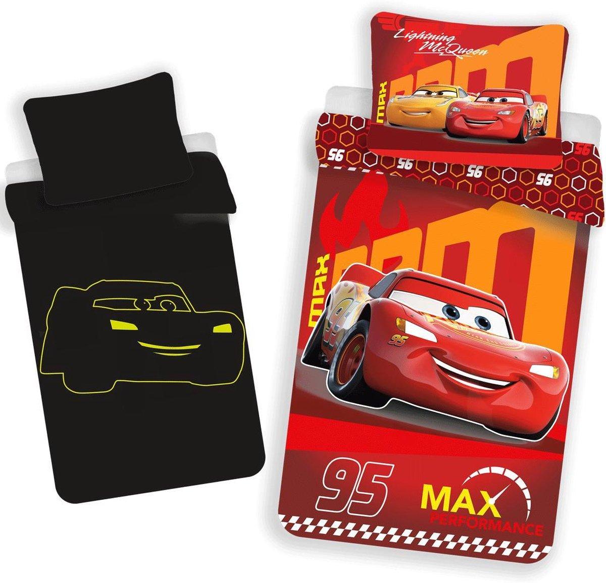 Disney Cars Glow in the Dark Dekbedovertrek - Eenpersoons - 140 x 200 cm - Rood kopen