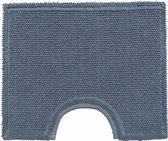 Toiletcontour blauw - 50 x 40 cm