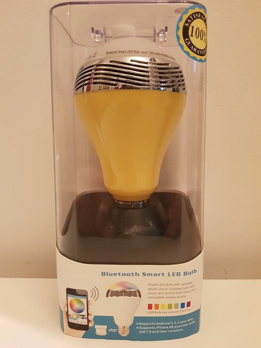 Bluetooth Smart Led E27 Bulb Speaker - geel