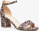 Nova dames hak sandalen met luipaardprint - Bruin - Maat 38