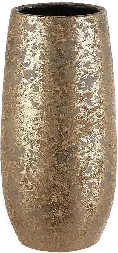 Mica Decorations clemente ronde vaas goud maat in cm: 35 x 17
