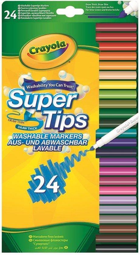 Crayola 24 Viltstiften met superpunt