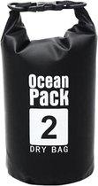 Oceaan Pack 2 Liter - Dry Bag - outdoor droogtas - waterdichte zwart