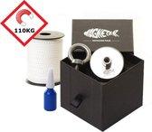 110kg vismagneet set- Magneet met touw en lijm - m