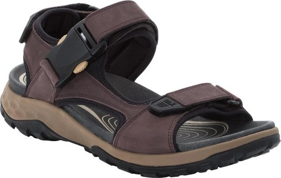 Jack Wolfskin Rocky Path Lt  Sandalen Heren - Dark Brown / Black - Maat 40.5