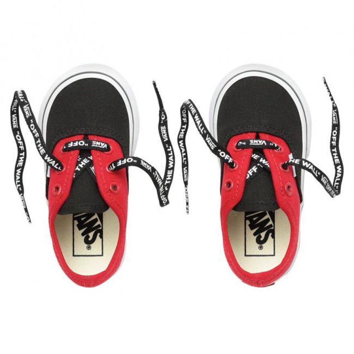 Vans Authentic sneakers Jongens ZwartRood Maat 25