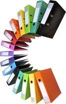 10x Iderama® Prem'Touch® ordner met hefboom - rug 70mm A4, Donkergroen