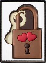 Weible chocolade 'lovelock' liefdesslotje in giftbox - 12 cm