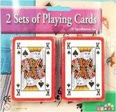 4x pakjes kaartspellen - Casino speelkaarten
