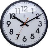nXt - Wall clock - 26cm Ø - Plastic - Black - 'Peter'