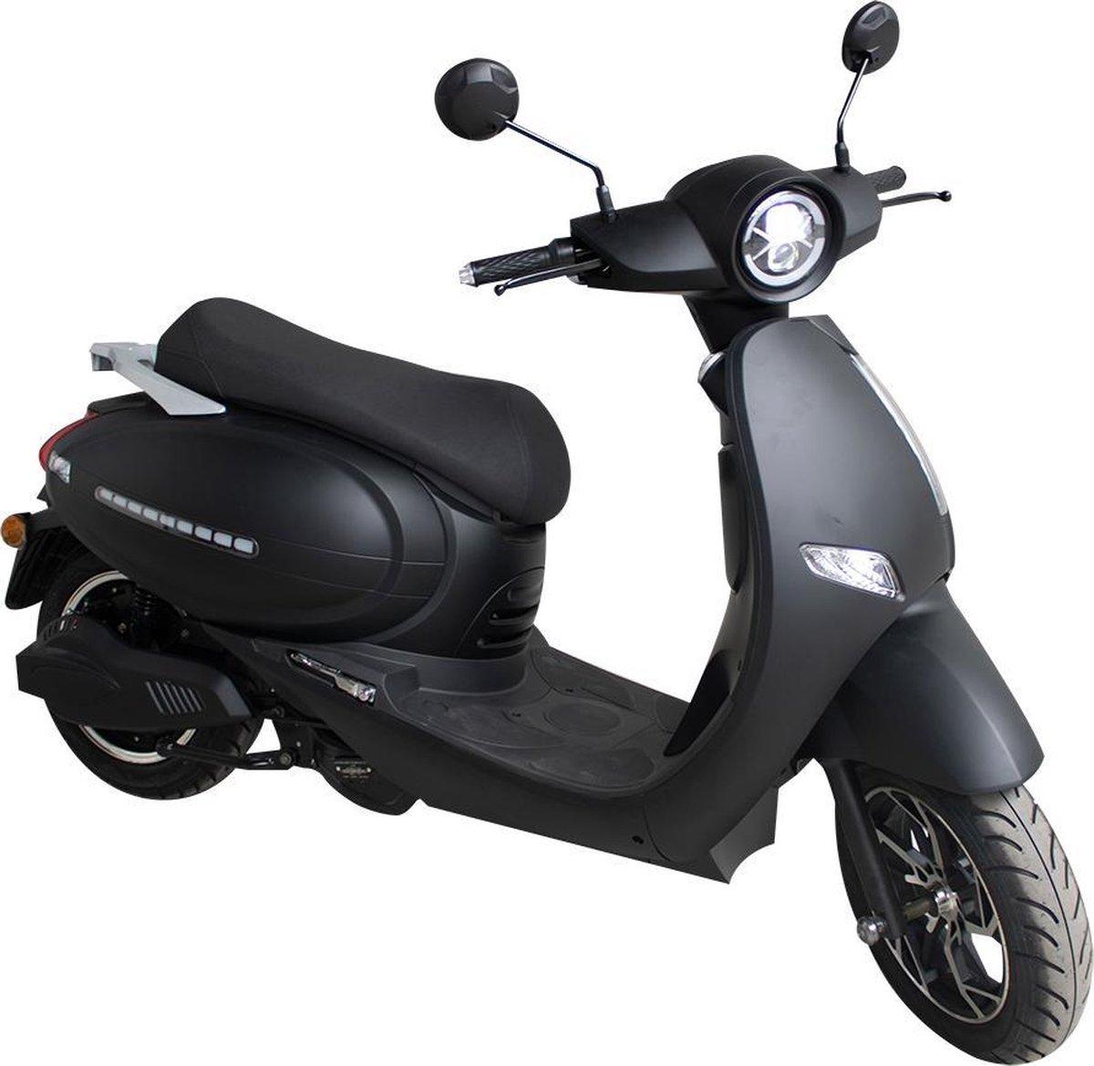 Elephant - City- Elektrische scooter - 25km/h - Actieradius 45km - Mat zwart