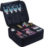 Cosmetica Koffer - Make-up Koffer met verstelbare vakken - Visagie en Nagelstyliste Beauty Koffer - 26x23x9CM