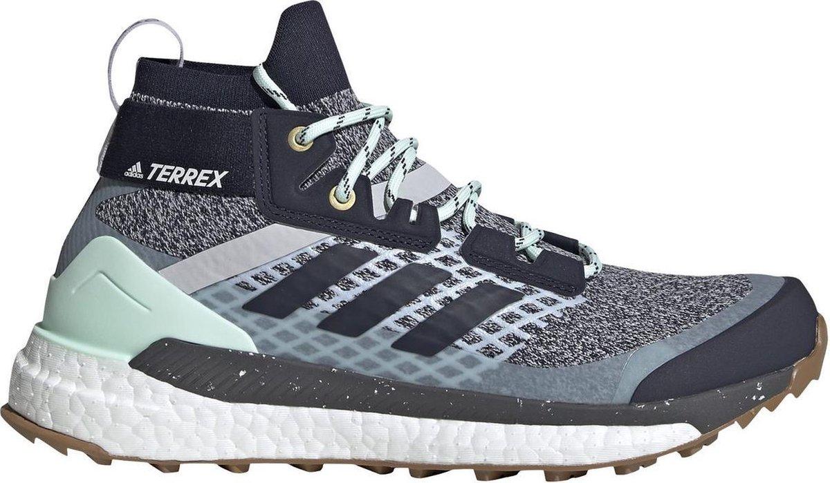 Adidas Terrex Free Hiker - dames synthetisch mid wandelschoenen - Blauw