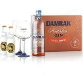 Damrak Virgin Cocktail Set - Gin Cadeau pakket incl. 2 glazen - Alcoholvrij - 70cl