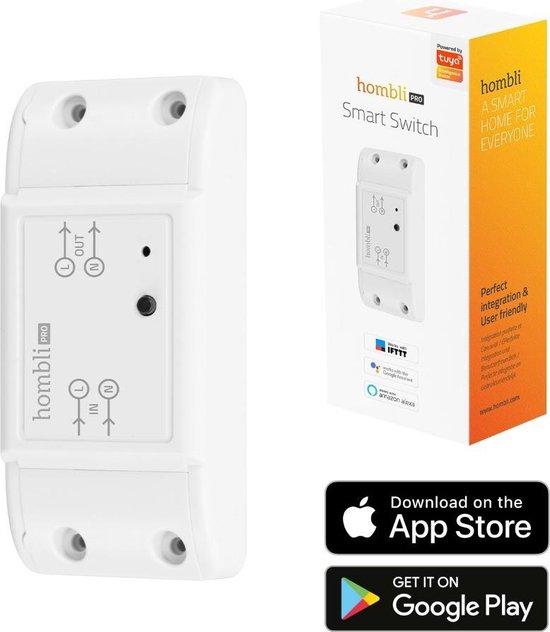 Hombli Smart Switch - Wifi Schakelaar  –  Bediening via Mobiele App – 2300W