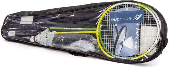 Rucanor Badmintonracket - groen/geel/wit SET