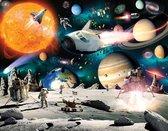 Walltastic Space Ruimte Behang - XXL Posterbehang - Kinderkamer - 305 x 244 cm