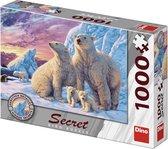 Puzzel Met Geheimen IJsberen 1000 Stukjes