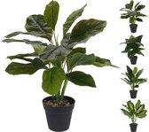 vidaXL Kunst monstera plant met pot 45 cm groen