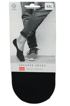 Steps | 5 Pack | sneaker sokken Dames | sneaker sokken heren | sneaker sokken | Footies | Zwart | L\XL | Maat 39-41