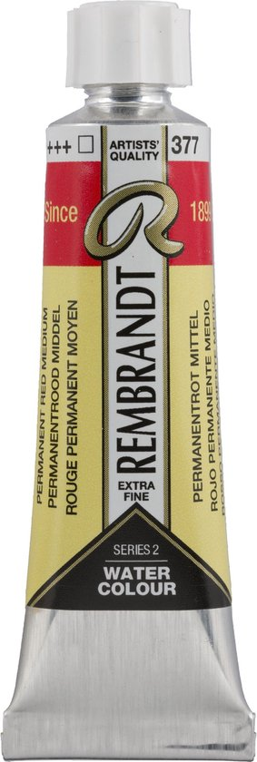 Rembrandt Water Colour Tube 10ml | permanent Red Medium (377)