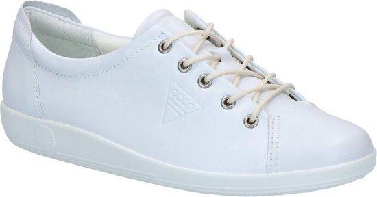 Ecco Soft 2.0 dames sneaker Wit Maat 39