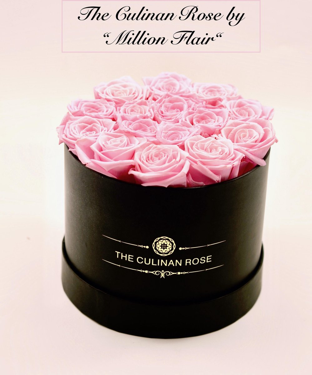 Million Flair Longlife rozen in box | Eternity roses in doos | Lang houdbare bloemen 3-5 jaar | Flowerbox Geslaagd Examen | Moederdag | Vaderdag | Huw
