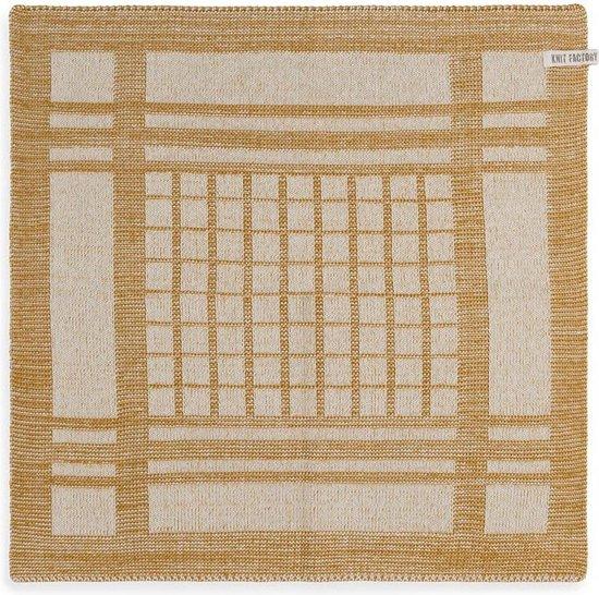 Knit Factory Keukendoek Emma - Ecru/Oker