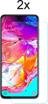 Samsung A70 Screenprotector Glas - 2x  Samsung Galaxy A70 Screen Protector Glas