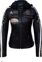 Urban Leather Fifty Eight Leren Motorjas Dames - Zwart - Maat S