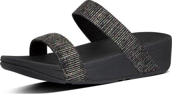 Dames Slippers Fitflop Lottie Glitter Bf5-090-040 Zwart - Maat 40 wPechZ