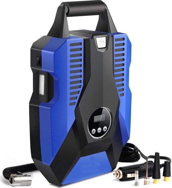LifeGoods 12V Elektrische Compressor en Bandenpomp - 10,3 Bar – 35L/min - Blauw