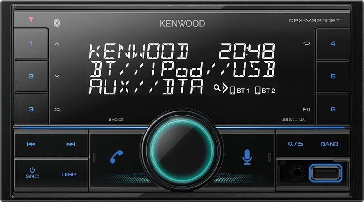 Kenwood DPX-M3200BT - Autoradio met bluetooth (2-DIN)