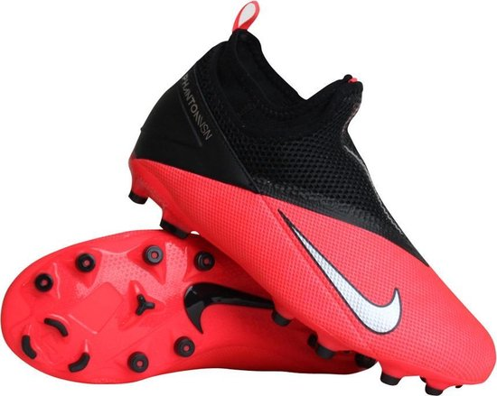 Nike Phantom Vision 2 Academy MG voetbalschoenen jongens zwartroze