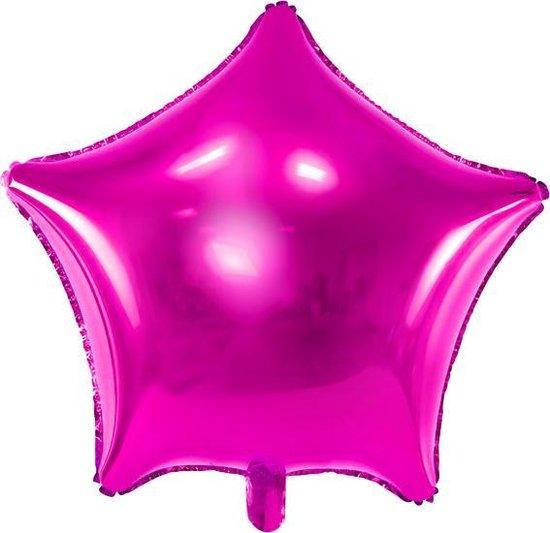 Folieballon ster donkerroze