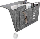Bed Organizer - Bedside Caddy - Bank Opbergzak - Nachtkastje voor magazines - Opbergzak - Opbergzak aan bed - Nachtkastje - Donkergrijs Vilt - Organiser - Bank Organiser - Bedside Pocket