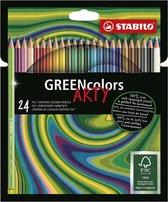 STABILO GREENcolors Kleurpotloden ARTY Etui 24 Kleuren