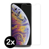 iPhone Xs Max Screenprotector Gehard Glas Tempered Glass Case - 2 PACK