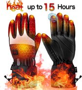 KW® Snel verwarmde Handschoen | Oplaadbare elektrische handschoenen | 3-traps temperatuurregeling en touchscreen | Ski handschoenen Verwarmde handschoenen Snowboardhandschoenen | Waterproof gloves | Ideaal voor buiten skiën, motorrijden, jagen
