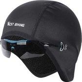 KW® Zwarte Fietsmuts | Winddicht wintersport | Onderhelm cap hoofdwarmer voor onder helm headwarmer helmmuts