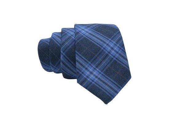 Premium Ties - Luxe Stropdas Heren - Katoen - Blauw - Inclusief Luxe Gift Box!