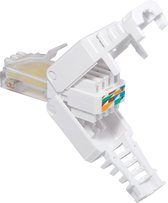Transmedia RJ45 toolless connector voor U/UTP CAT5/5e netwerkkabel - per stuk
