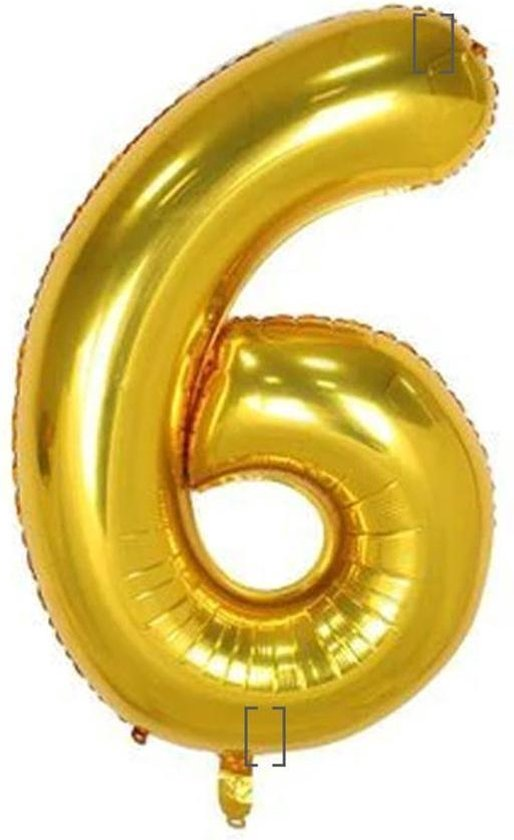 Folie ballon gouden 6