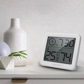 Digitale Thermometer - Hygrometer - Elektronische temperatuur meter - Luchtvochtigheidsmeter - Weerstation - Vochtigheidsmeter - Voor binnen